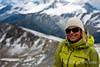 Yoga instructor, Angie Smith, Bodacious in the Bugaboos, Heli-hiking vacation, Canadian Mountain Holidays, Canada.