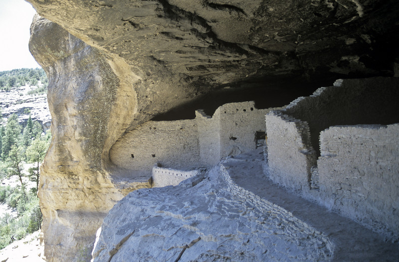 Gila Cliff Dwellings National Monument. Ancient remains of the Mogollon culture near Silver City, New Mexico. USA
