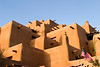Pueblo inspired adobe architecture, Inn and Spa at Loretto, Santa Fe, NM.