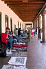 Indian Vendors beneath the portal at Palace of the Governors, Santa Fe, NM
