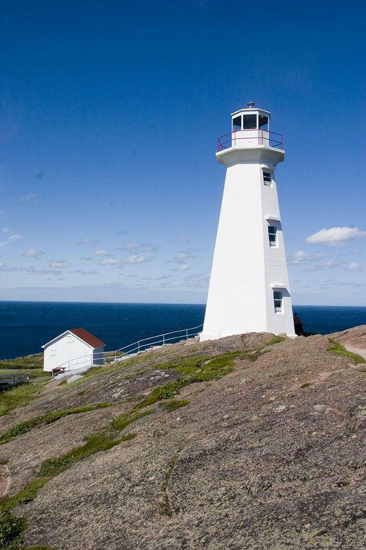 lighthouse, Cape Spear National Historic Site, easternmost point in North America, near St. John's, Newfoundland, Canada
