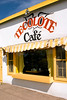 Tecolote Cafe, a popular local hangout, Santa Fe, New Mexico, USA.