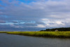 Salt marsh under stormy sky, Hilton Head Island, South Carolina, USA, North America.