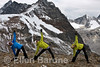 Mountain top yoga, women's only Bodacious getaway, Bugaboo Lodge, Heli-hiking vacation, Canadian Mountain Holidays, Canada.