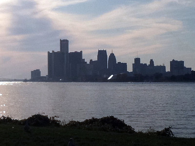 My favorite view of the city from the shores of Belle Isle.