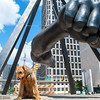 Joe Louis sculpture