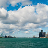 Detroit and Windsor skylines from Belle Isle
