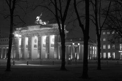 Framed Brandenburg  Brandenburg Gate, Berlin, Germany.
