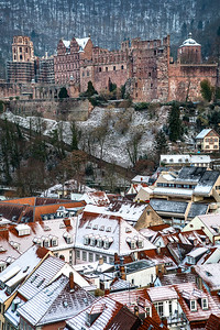Snowy HD  Heidelberg, Germany.