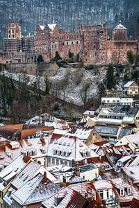 Snowy HD  Heidelberg, Germany.