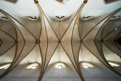 Cathedral Ceiling, Pfarramt St. Marien Catholic Church, Neustadt an der Weinstrasse, Germany