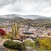 Fall colors with a winter blanket<br /> <br /> Philosophenweg overlooking Heidelberg, Germany.