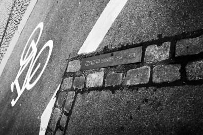 Berlin Wall Path  Eberstrasse, Brandenburg Gate, Berlin, Germany.
