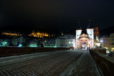 Snowy Heidelberg  Heidelberg, Germany.