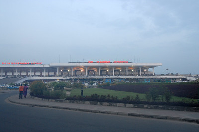 View of Dhaka's Zia International Airport.  Zia International Airport (IATA: DAC, ICAO: VGZR) (Bengali: Zia Antorjatik Bimanbôndor) is the largest airport in Bangladesh located in Kurmitola, about 20 Kms North of Dhaka city area.  Dhaka (Bangla: ঢাকা, pronounced [ɖʱaka])— (Dacca) is the capital city of Bangladesh (Bengali: বাংলাদেশ [ˈbaŋlad̪eʃ] Bangladesh). Dhaka, located on the banks of the Buriganga River is a megacity with a population of over 12 million. Dhaka is known as the City of Mosques and renowned for producing the world's finest muslin. it is a center for culture, education and business.