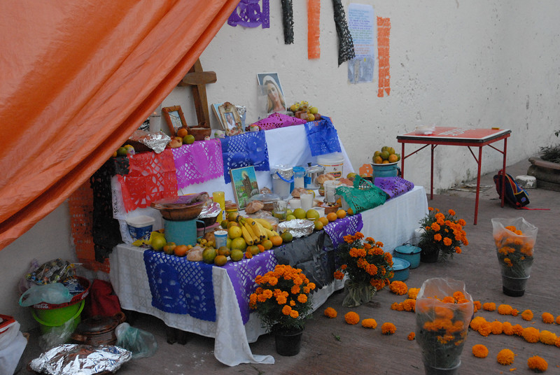 Altar at Sunday school in Cuernavaca