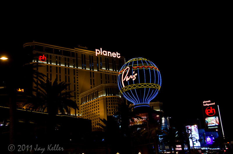 Planet Hollywood and the Paris balloon.
