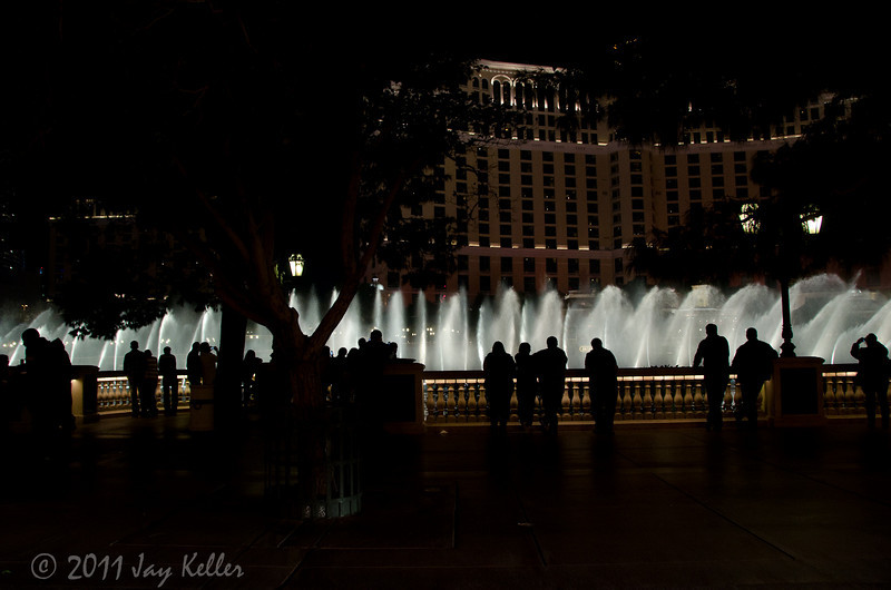 Driving by the Bellagio during one of the fountain shows.