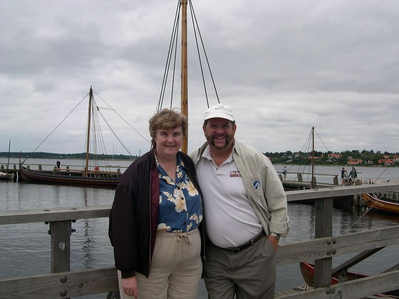 Dick and Susan at the Viking Ship Museum, Roskilde, Denmark