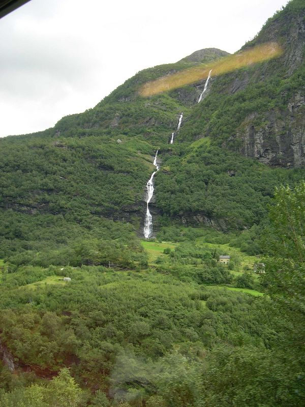 Waterfall from the Myrdal-Flam train