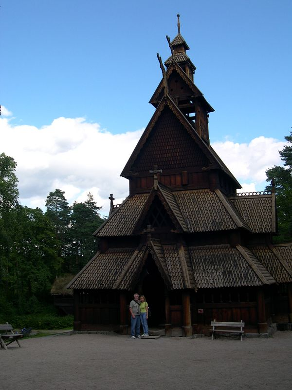 Danny and Doreen at the stave church