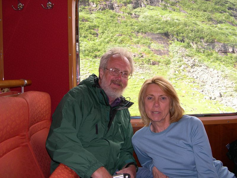 Danny and Doreen on the train to Myrdal