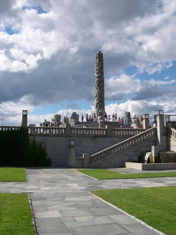 Central obelisk in Vigeland