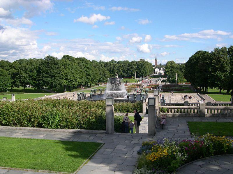 View of Vigeland sculpture park