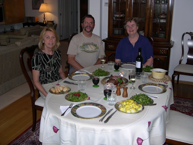 Dinner at our apartment in Brussels before leaving for Norway.