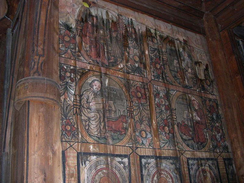 Wall paintings in the stave church