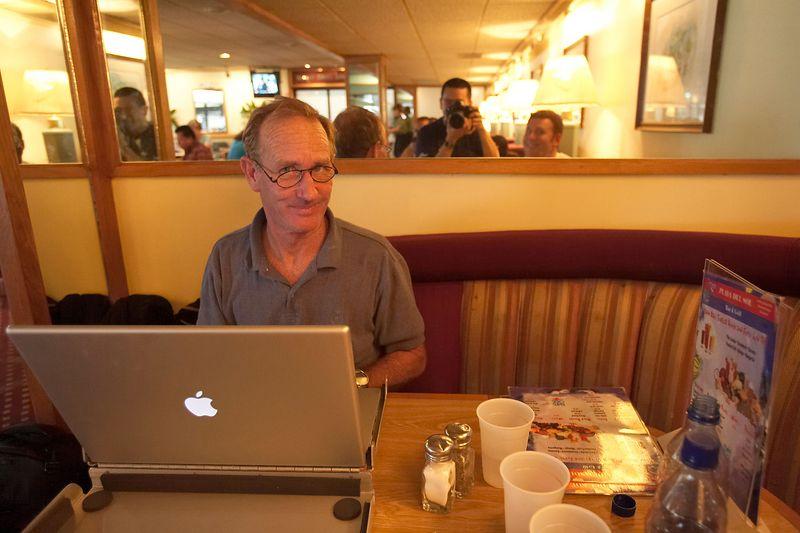 Jim Watt at a greasy diner in the San Juan Airport