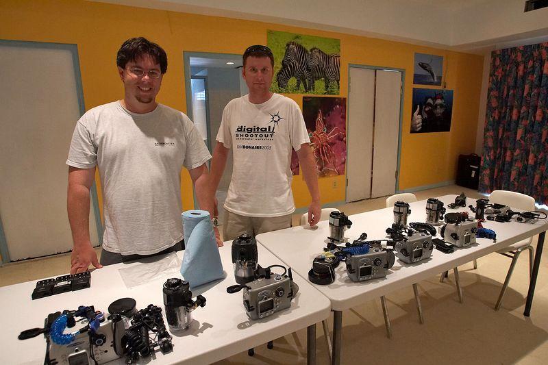 Jason and Dan ready the fleet of Tetra 5050 loaner housings