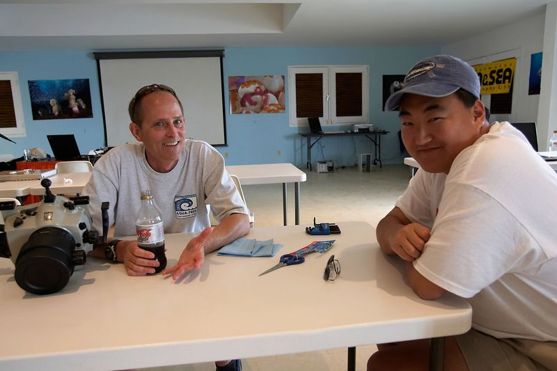 Veterans Greg Bang and Erik Moon already know how to set up their systems