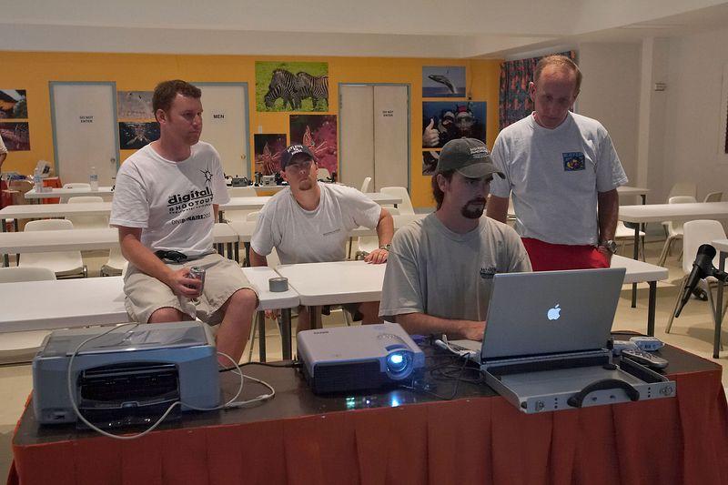 Dan, Jason, Berk, and Jim set up Quicktime