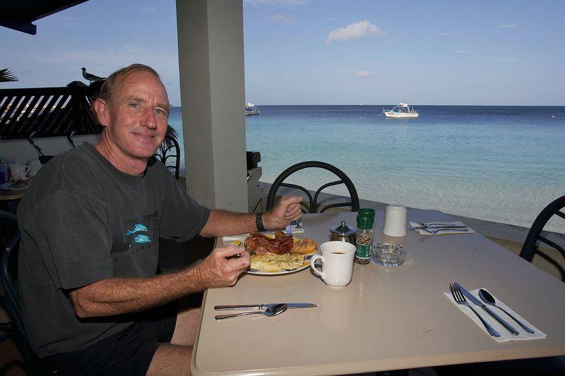 Jim Watt at breakfast