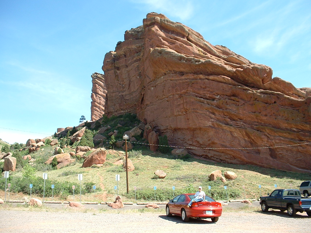 2006 - Morrison-Red Rocks area - my old car in the Red Rocks Arena parking lot