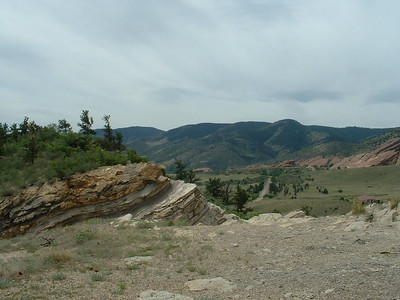 2006 - Morrison-Red Rocks area - views from Dinosaur Ridge - close to where we were standing after climbing up the side of the small mountain