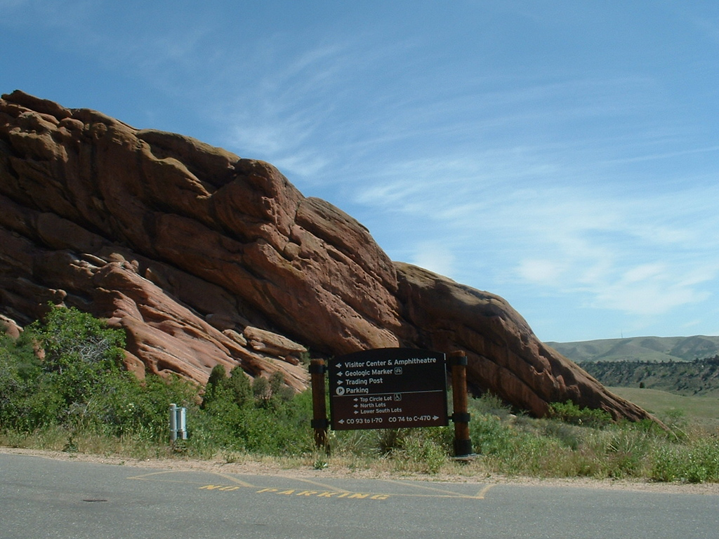 2006 - Morrison-Red Rocks area - views from the Red Rocks Arena parking lot