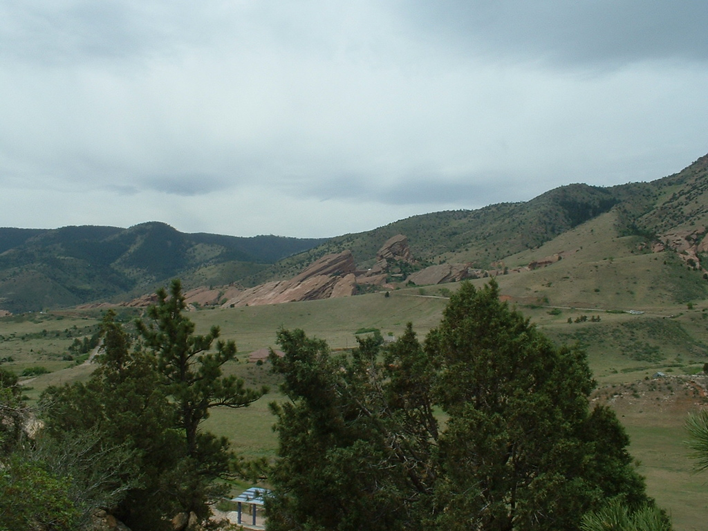 2006 - Morrison-Red Rocks area - views from Dinosaur Ridge - looking at Red Rocks area