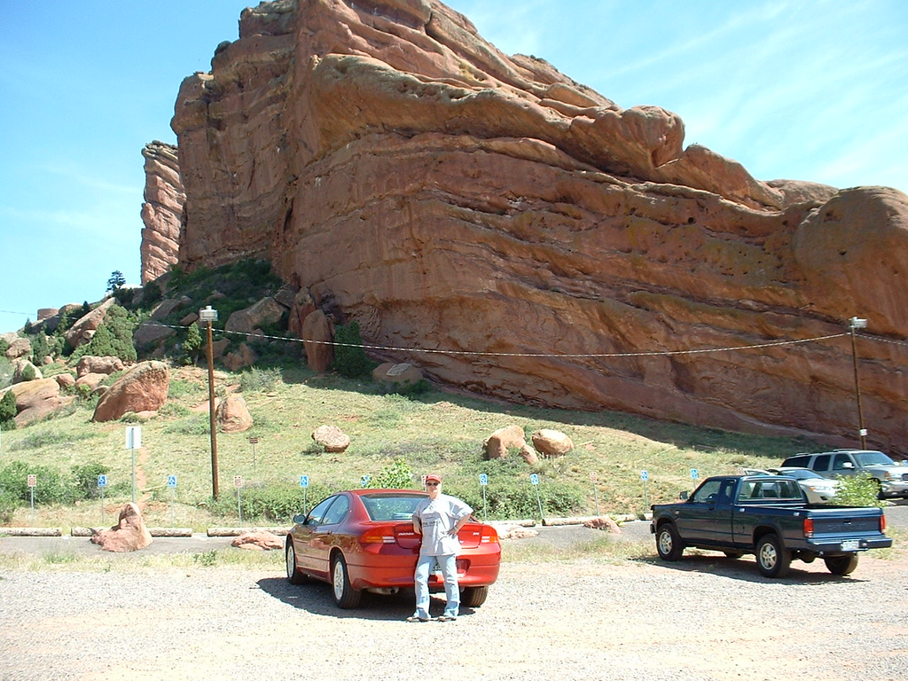 2006 - Morrison-Red Rocks area - my old car in the Red Rocks Arena parking lot - I had to break down and get a 4 wheel drive SUV so I could survive the winters!