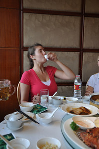 "...the last gulp... (in China, the frequent toast ""gambe!"" means you have to empty your glass)."