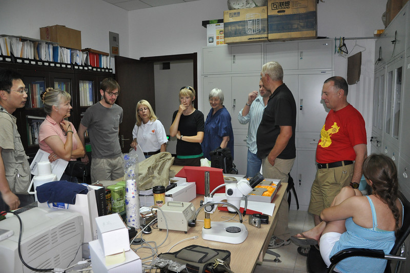 Here we are in Hailu's office, looking at Changma fossils (on the table and invisible in this picture -- many of them are unpublished!)  From left to right: Hailu, Becky, Jack, Diane, Brenna, Christie, Matt, Brad, Mike, and Jessie.