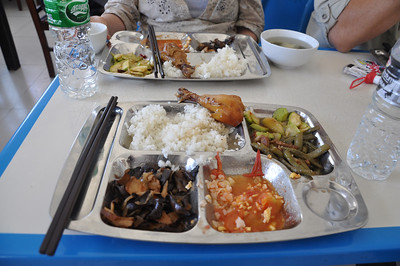 We stopped for lunch at what was the regional equivalent of a truck stop.  The food was served on these metal trays, which I thought was reminiscent enough of my elementary school days (I don't think I've eaten off a tray since that time, 'til now!) that I had to take a picture!