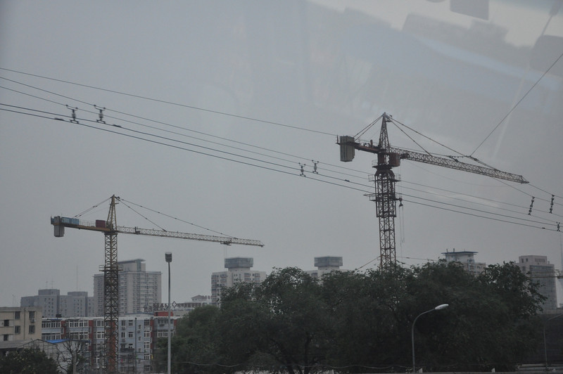 It's been joked that the national bird of China is the crane, and one does indeed see literally hundreds of these things in every sizable city!