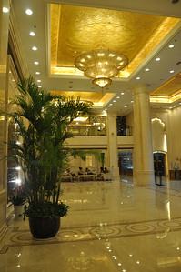 The lobby of the Xinjiang Hotel, where we stayed both this year and last.