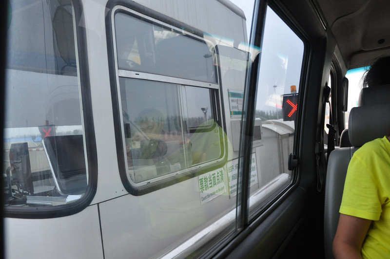 Toll roads are ubiquitous in China, and all the toll takers sit in these little booths that look like some sort of squat truck...maybe they just drive them in everyday and dock...