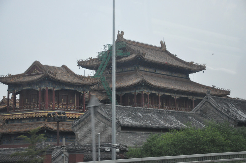 I have no idea what this building was/is...it's not near the Forbidden City, but looks older than all the stuff around it.