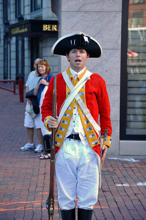 Redcoats running all over Quincy Market!