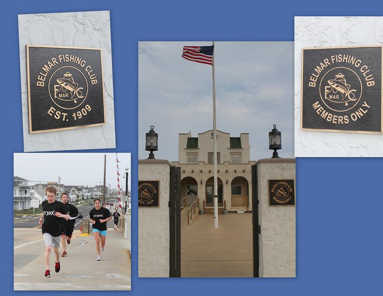 High School Runner heading by the Belmar Fishing Club, Est. 1909. Members only so we kept walking.