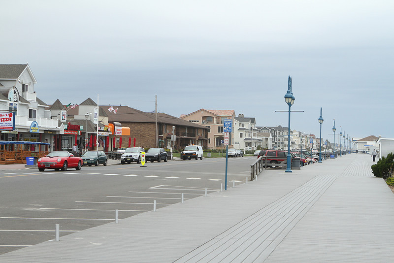 Retail intermixed with residential on some portions of the boardwalk in towns along the way